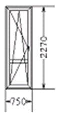 Балконная дверь (код 2)