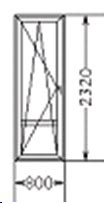 Балконная дверь (код 3)