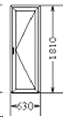 Балконная дверь (код 49)