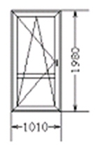 Балконная дверь (код 65)