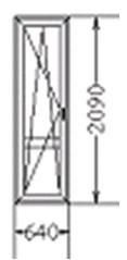 Балконная дверь (код 79)